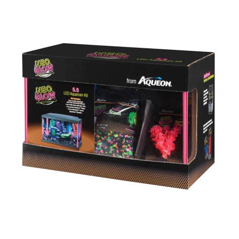 Aqueon Aquarium Kit Pink NeoGlow