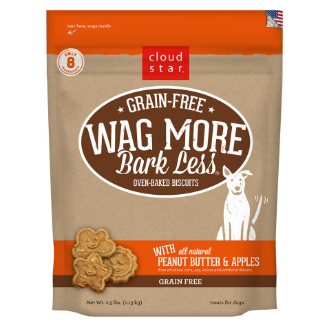 Cloud Star Wag More Bark Less Grain Free Peanut Butter & Apples Dog Treats