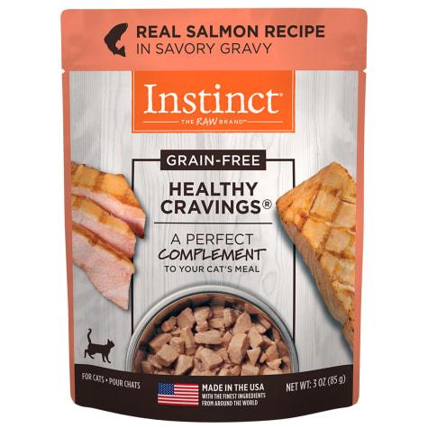 Instinct Healthy Cravings Grain-Free Cuts & Gravy Real Salmon Recipe in Savory Gravy Wet Cat Food