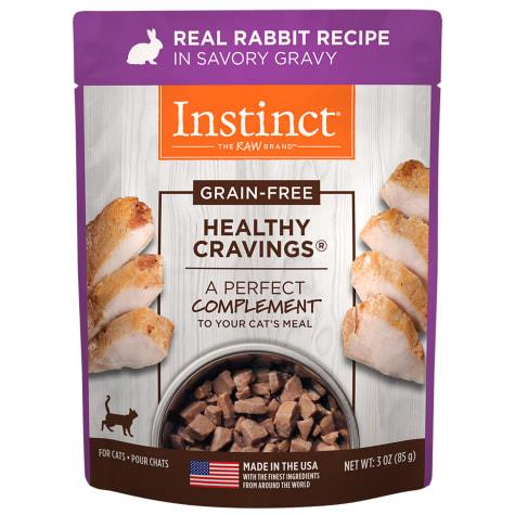Instinct Healthy Cravings Grain-Free Cuts & Gravy Real Rabbit Recipe in Savory Gravy Wet Cat Food