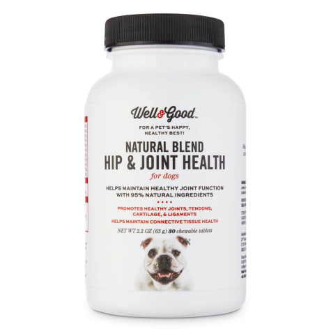 Well & Good Natural Blend Hip & Joint Health Chewable Dog Tablets