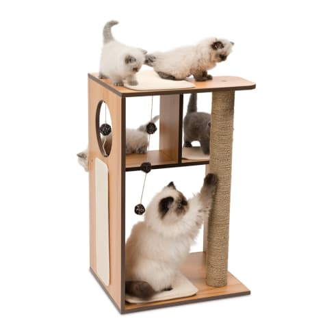 Vesper V-box Walnut for Cats
