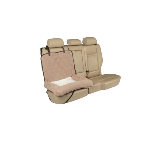 PetSafe Happy Ride Brown Car Cuddler Dog Bed