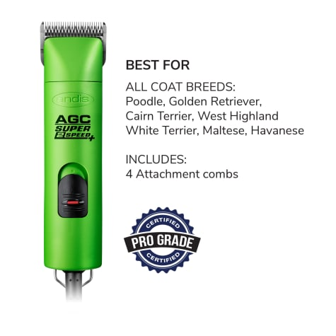 Andis ProClip AGC Super 2-Speed Detachagle Blade Clipper, Green