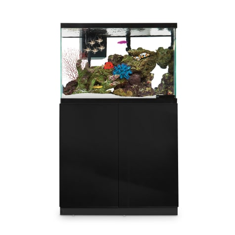 Imagitarium Black Gloss Fish Tank Stand, Up to 40 Gal.
