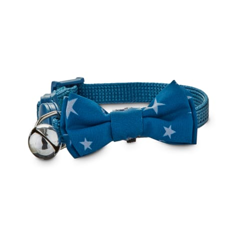 Jubilee Blue Bowtie Kitten Collar