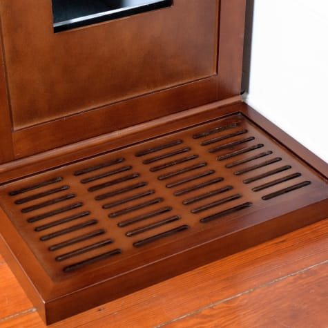 The Refined Feline Litter Catch Box In Mahogany
