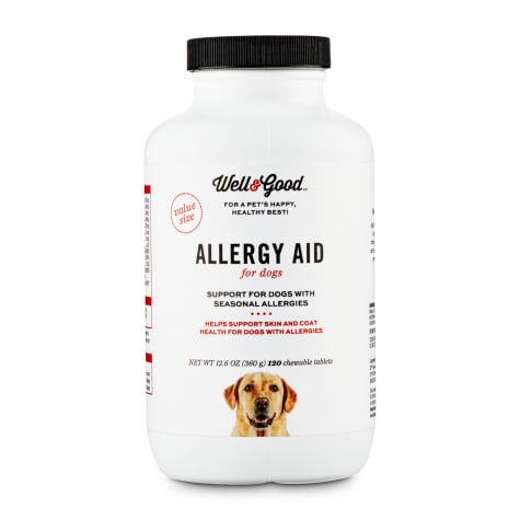 Well & Good Dog Allergy Aid Chewable Tablets