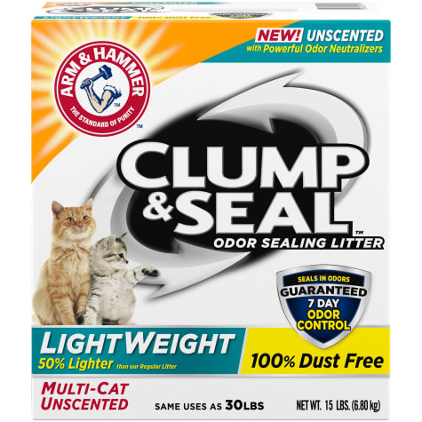Arm & Hammer Clump & Seal Lightweight Unscented Clumping Cat Litter