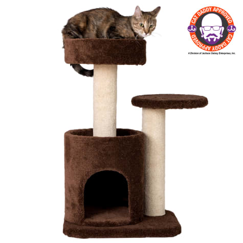 Armarkat Cat Tree Carpeted Gym Scratching Post F3005 Coffee Brown