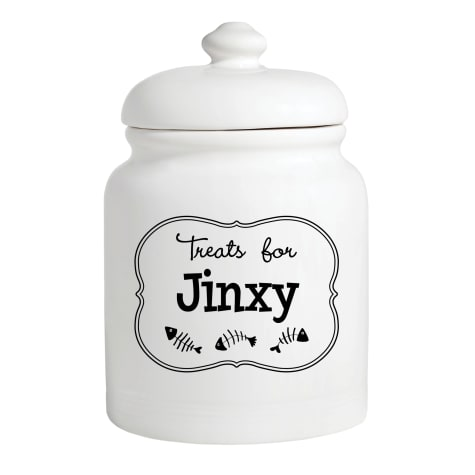 Custom Personalization Solutions Personalized Treats For Kitty Treat Jar