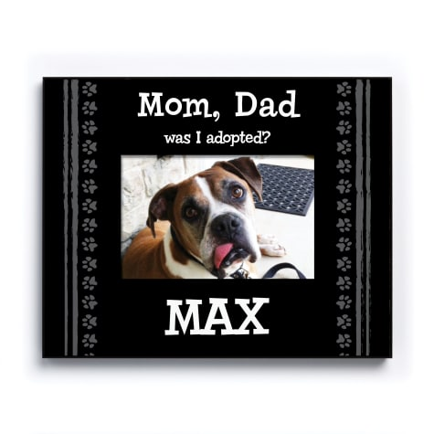 Custom Personalization Solutions Was I Adopted Personalized Dog Frame Black