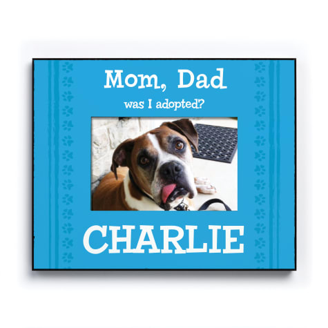 Custom Personalization Solutions Was I Adopted Personalized Dog Frame Blue