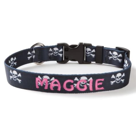 Custom Personalization Solutions Personalized Skulls Dog Collar