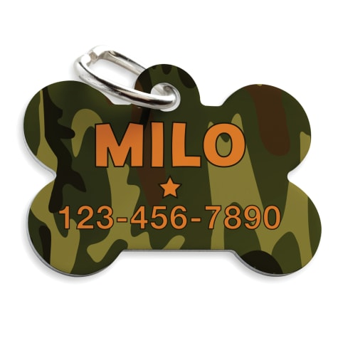 Custom Personalization Solutions Personalized Camo Pet Tag Green
