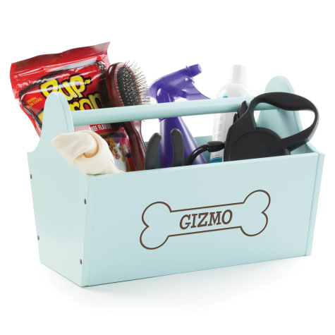 Custom Personalization Solutions Personalized Storage Caddy Light Blue