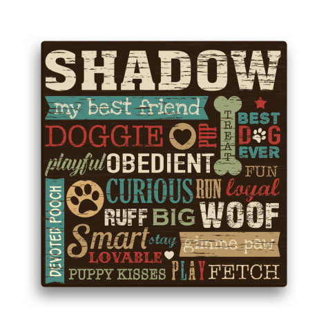 Custom Personalization Solutions Personalized All About The Dog Canvas