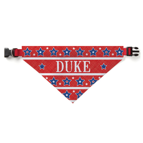 Custom Personalization Solutions Personalized Stars And Stripes Dog Bandana Collar Cover