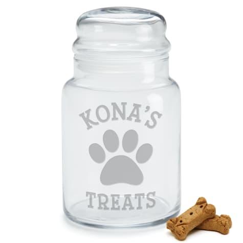 Custom Personalization Solutions Personalized Dog Treats Glass Jar