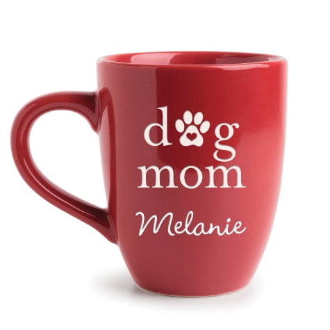 Custom Personalization Solutions Personalized Dog Mom Bistro Mug