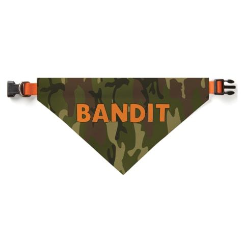 Custom Personalization Solutions Personalized Camo Dog Bandana Collar Cover Green