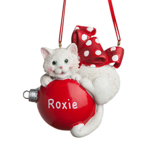 Custom Personalization Solutions Personalized Cat Ornament White