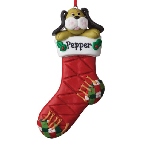 Custom Personalization Solutions Personalized Dog Stocking Ornament