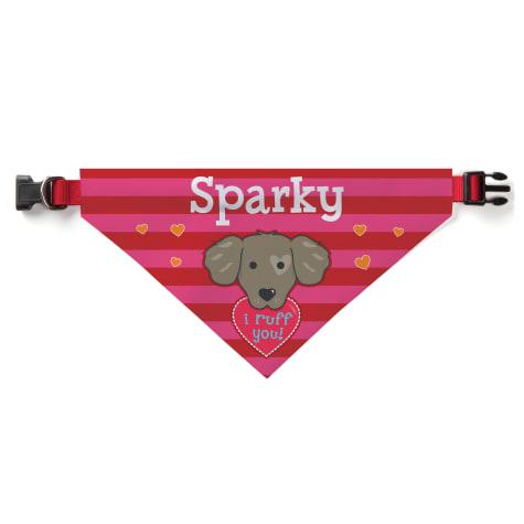 Custom Personalization Solutions I Ruff You Personalized Dog Bandana Collar Cover