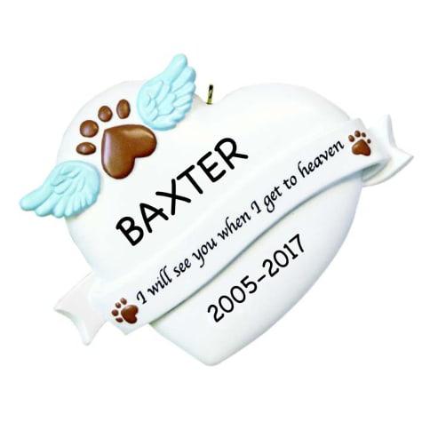 Custom Personalization Solutions Personalized Pet Memorial Ornament