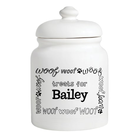 Custom Personalization Solutions Personalized Woof Treat Jar