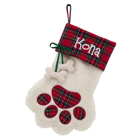 Custom Personalization Solutions Personalized Dog Paw Stocking