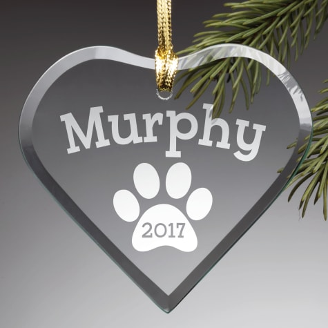 Custom Personalization Solutions Personalized Special Dog Glass Ornament