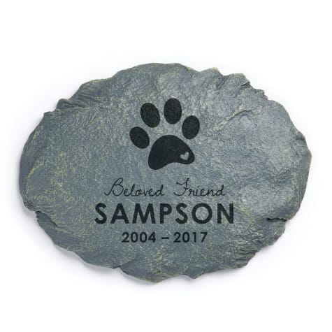 Custom Personalization Solutions Beloved Friend Personalized Dog Memorial Garden Stone