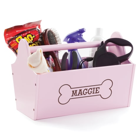 Custom Personalization Solutions Personalized Sweet Dog Storage Caddy Pink