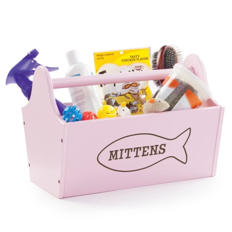 Custom Personalization Solutions Personalized Sweet Cat Storage Caddy Pink