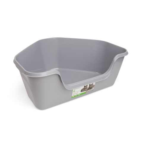 So Phresh High-Back Corner Grey Litter Box