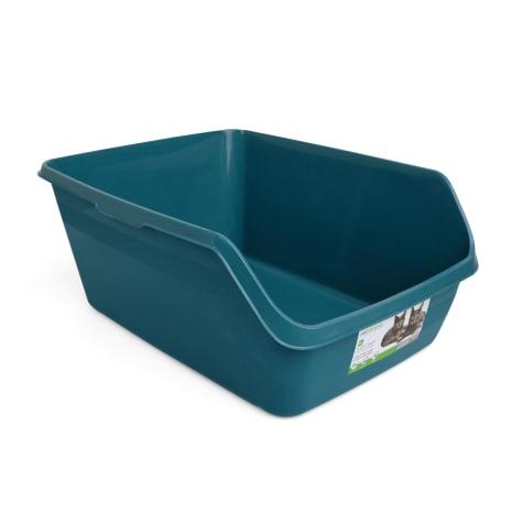 So Phresh Teal Scatter Shield High-Back Litter Box for Cat