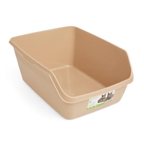 So Phresh Tan Scatter Shield High-Back Litter Box for Cat