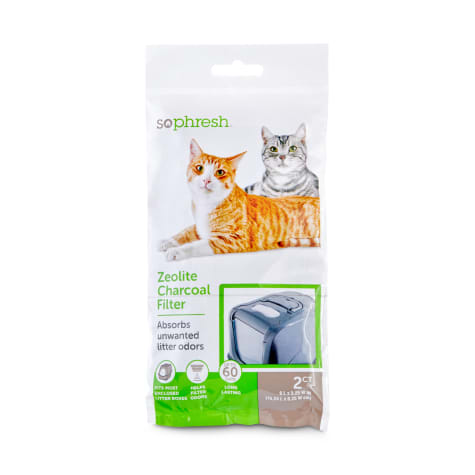 So Phresh Zeolite Charcoal Filters for Hooded Cat Litter Boxes