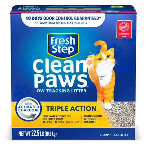 Fresh Step Clean Paws Triple Action Scented Clumping Cat Litter