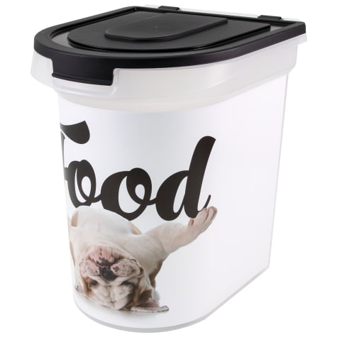 Paw Prints Food Bin Bulldog