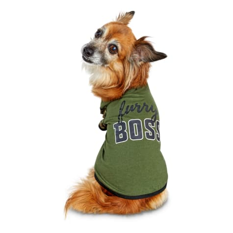 Bond & Co. Furry Boss Camo Dog T-shirt