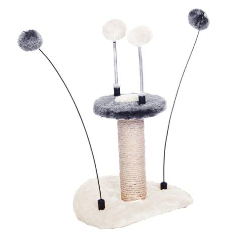 PetPals Group Zippy-M Grey Springy Teasing Balls Toy