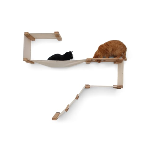 CatastrophiCreations Deluxe Playplace Hammocks for Cats in Natural