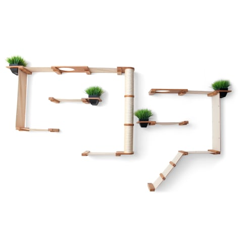 CatastrophiCreations The Cat Mod Gardens Complex with Planters for Cats in Natural