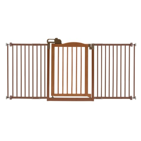 Richell One-Touch Brown Pet Gate II Wide