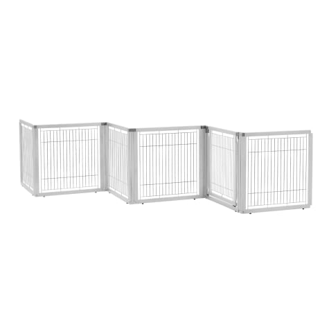 Richell Convertible Elite White Pet Gate 6 Panel