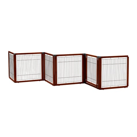 Richell Convertible Elite Brown Pet Gate 6 Panel