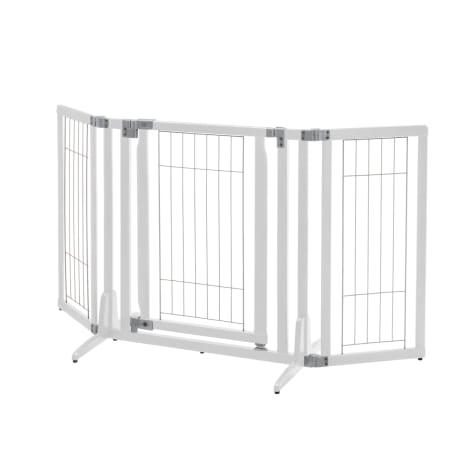 Richell Premium Plus Freestanding White Pet Gate