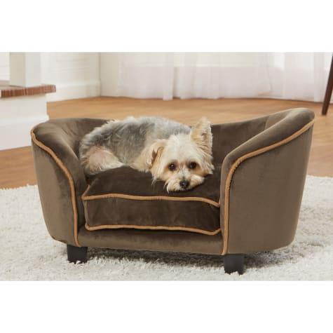 Enchanted Home Pet Ultra Plush Snuggle Mink Brown Sofa for Dog